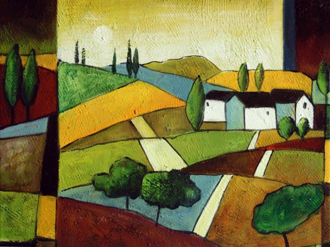 Cuadros abstractos cuadros modernos con paisajes - Casa de labranza madrid ...