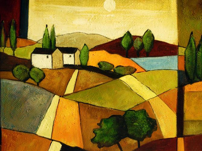 Cuadros abstractos cuadros modernos con paisajes abstractos ii casa de labranza - Cuadros modernos para pintar ...