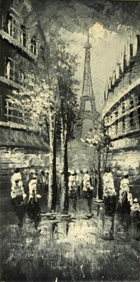 Cuadros modernos cuadros de ciudades ii paris en blanco - Cuadros modernos blanco y negro ...