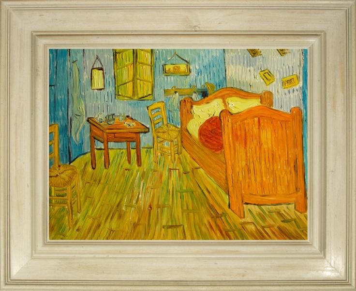 Cuadros famosos cuadros de van gogh con marco blanco la - Cuadros de habitacion ...