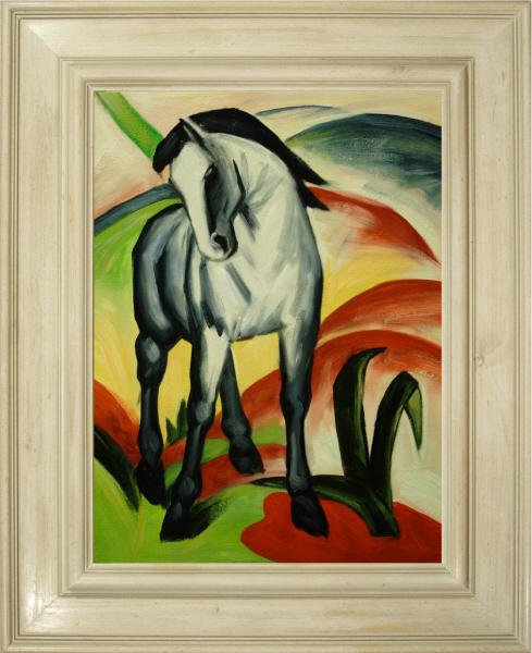 Cuadros famosos cuadros de franz marc con marco blanco for Imagenes de cuadros abstractos famosos