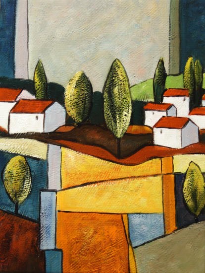 Paisaje con figuras geom tricas imagui for Imagenes de cuadros abstractos famosos