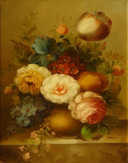 Cuadros modernos cuadros de flores y plantas v ramo de - Ramos de flores modernos ...