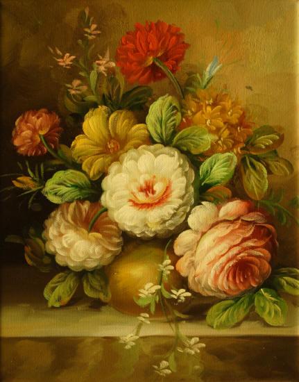 Cuadros modernos cuadros de flores y plantas vii ramo de - Ramos de flores modernos ...