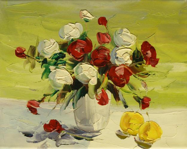 Cuadros modernos cuadros de flores y plantas vi ramo de - Ramos de flores modernos ...