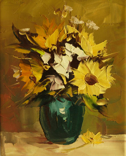 Cuadros modernos flores plantas iii azules pictures car - Floreros modernos ...