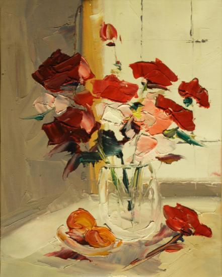 Cuadros modernos cuadros de flores y plantas ramo de rosas - Ramos de flores modernos ...