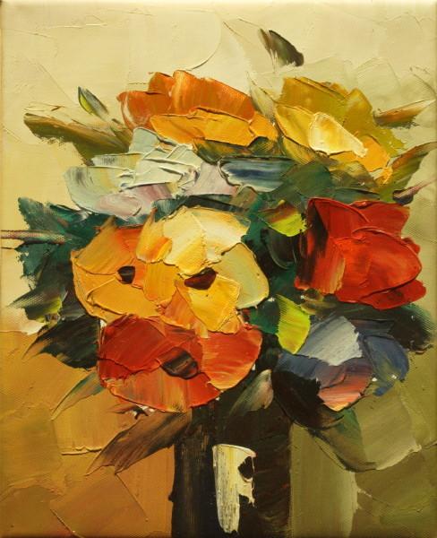 Cuadros modernos cuadros de flores y plantas ramo primaveral - Ramos de flores modernos ...