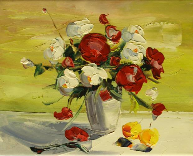 Cuadros modernos cuadros de flores y plantas ii ramo de - Ramos de flores modernos ...