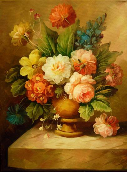 Flores pintadas al oleo cuadros de Imagui - Imagui