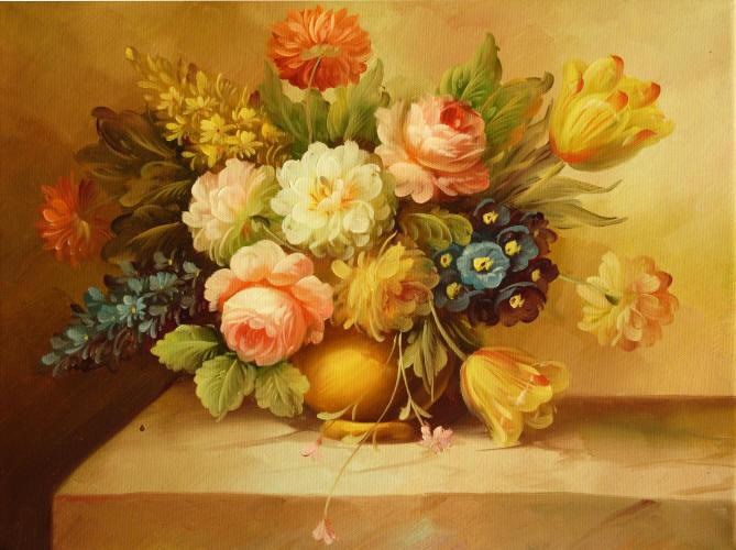 Cuadros modernos cuadros de flores y plantas xi ramo de - Ramos de flores modernos ...