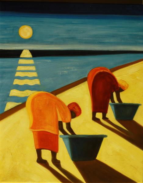 Cuadros Modernos  Mujeres En La Playa