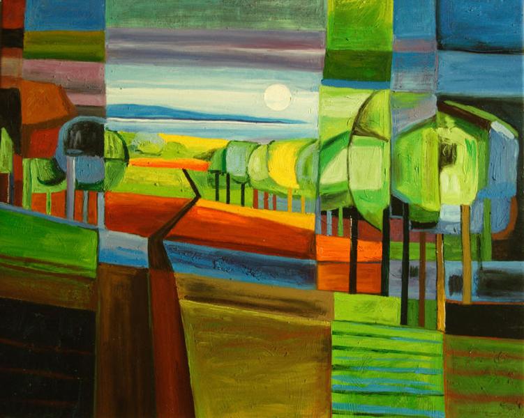 Cuadros abstractos cuadros modernos con paisajes for Fotos de cuadros abstractos sencillos