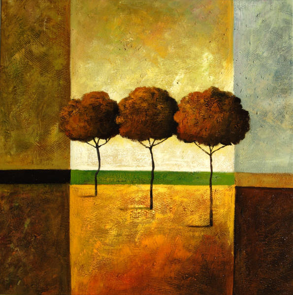 Cuadros abstractos, cuadros modernos con paisajes abstractos, II ...