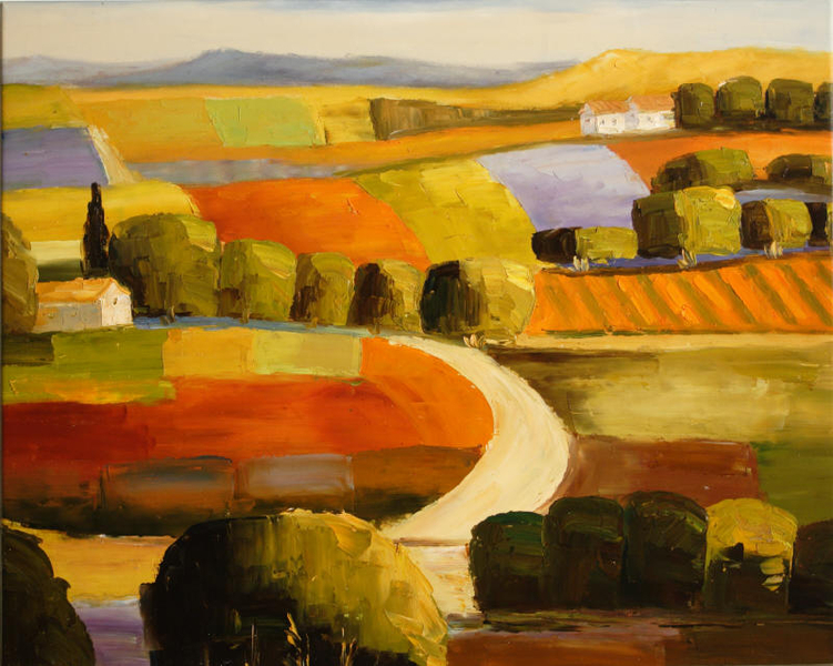 Cuadros abstractos cuadros modernos con paisajes - Cuadros para principiantes ...