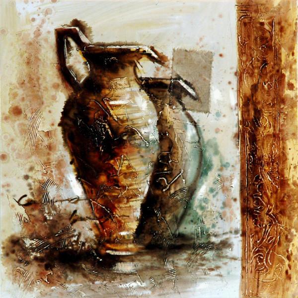 Cuadros modernos cuadros de bodegones jarras helenicas - Cuadros bodegones modernos ...