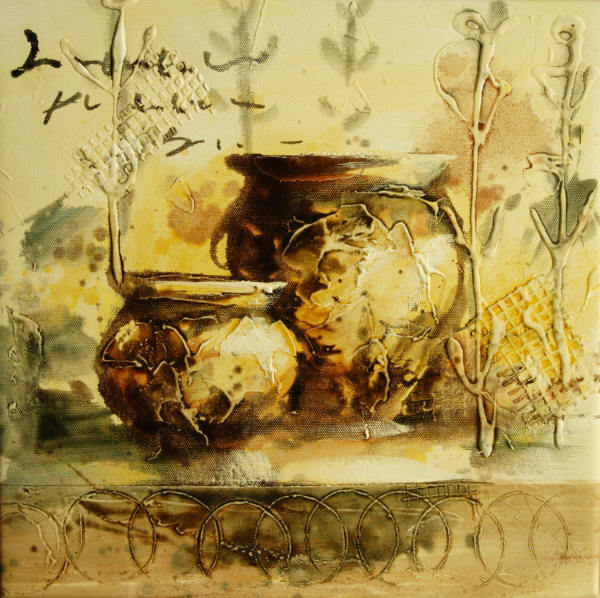 Cuadros modernos cuadros de bodegones 30x30 cuencos y flores - Cuadros bodegones modernos ...