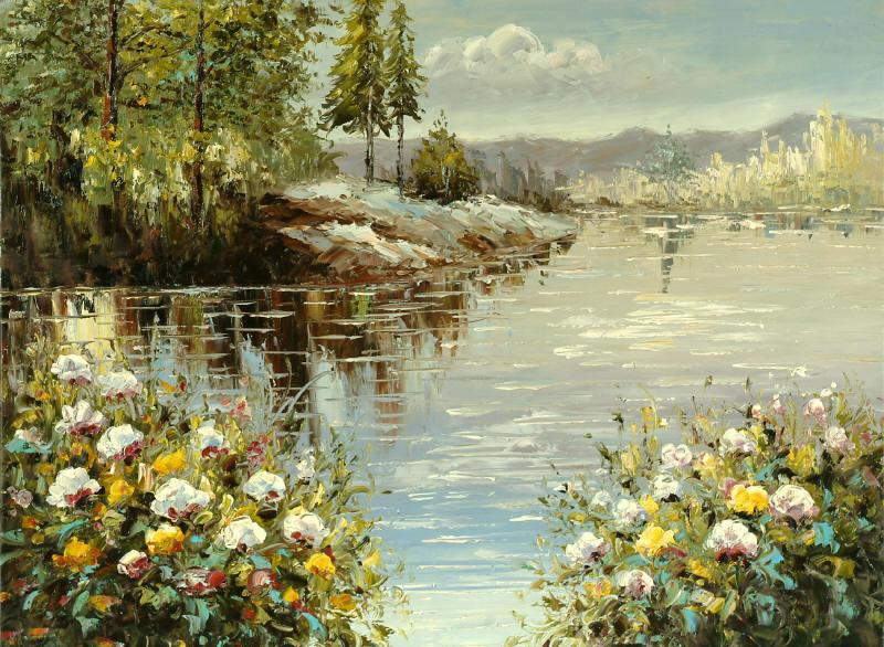 """cuadros modernos """"La bahía de las flores"""""""