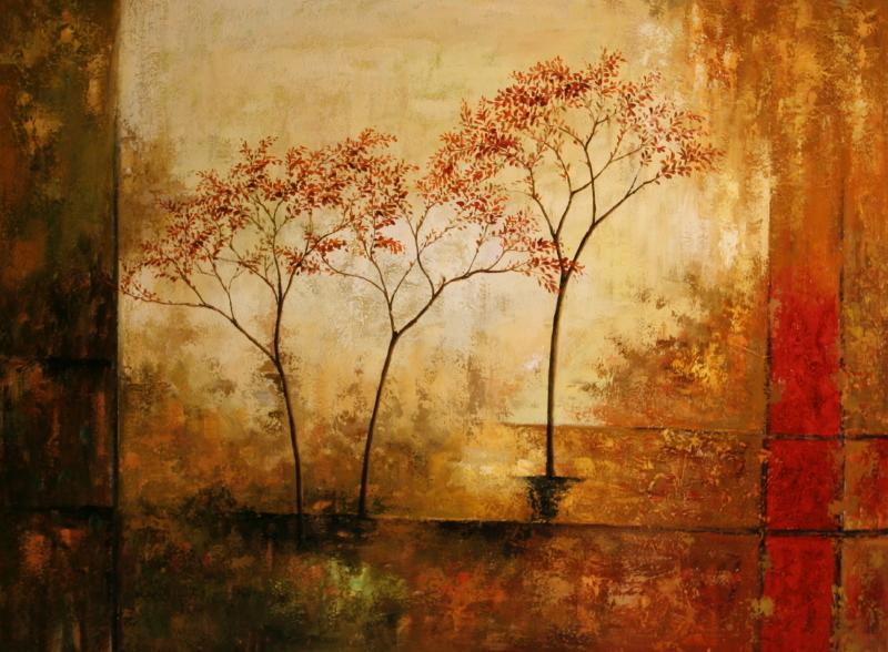 Cuadros abstractos cuadros modernos con paisajes for Fotos de cuadros abstractos al oleo