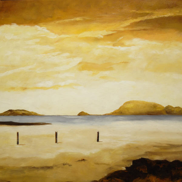 Cuadros modernos cuadros marinas i sendero en la arena for Cuadros de marinas
