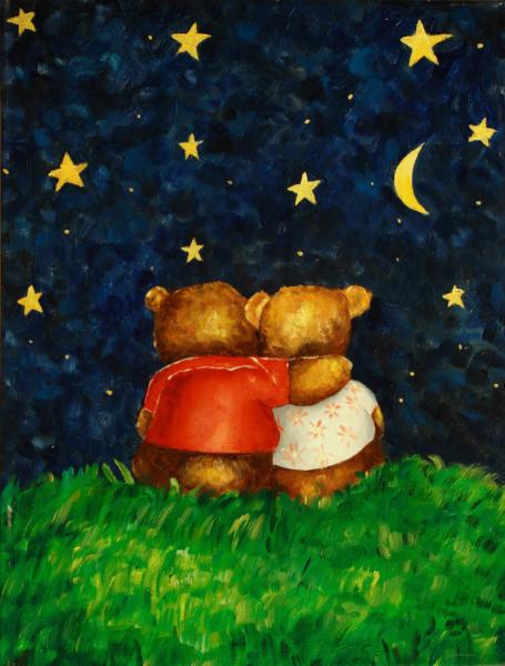 Cuadros modernos cuadros infantiles noche de estrellas for Cuadros infantiles al oleo