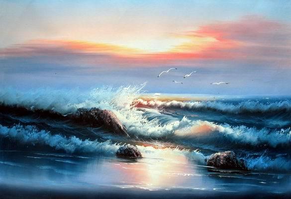 Cuadros modernos cuadros marinas marina i for Cuadros de marinas