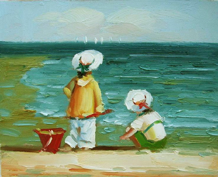 Cuadros modernos cuadros marinas v coleccion ni os en la for Cuadros infantiles al oleo