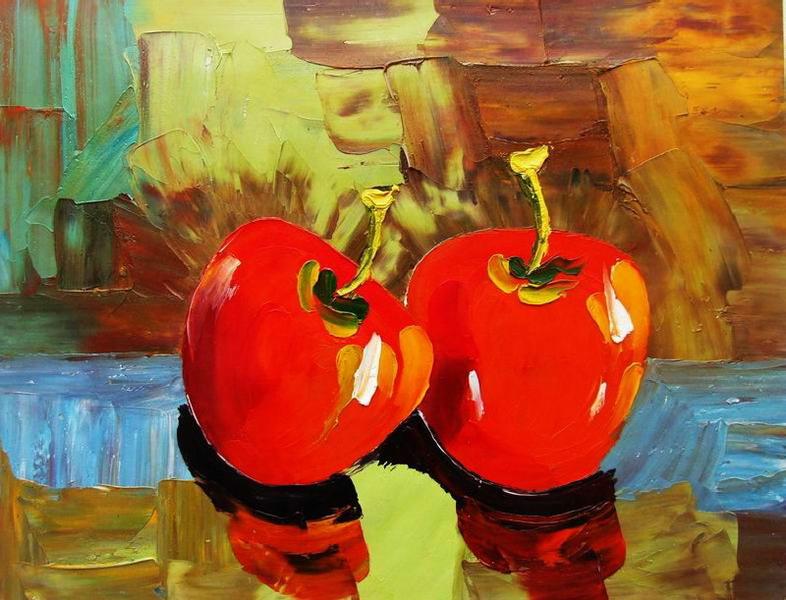 Cuadros modernos, cuadros de frutas y verduras, II-Coleccion frutas