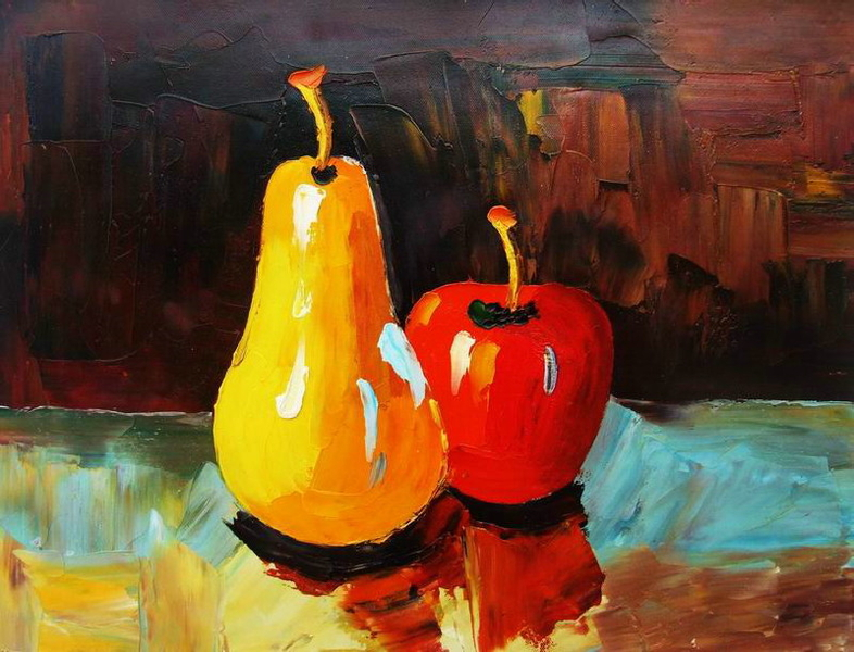 Cuadros modernos, cuadros de frutas y verduras, I-Coleccion frutas