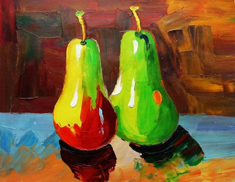Cuadros modernos, cuadros de frutas y verduras, IV-Coleccion frutas