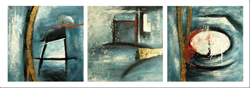 Cuadros abstractos cuadros modernos cuadros tripticos Cuadros tripticos modernos para comedor