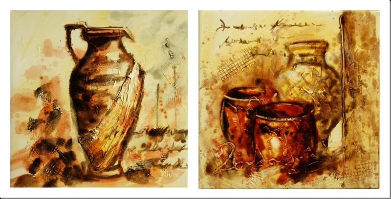 Cuadros abstractos cuadros modernos dipticos i bodegon for Laminas de cuadros modernos