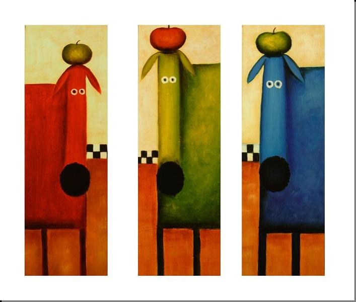 Cuadros abstractos tr pticos coloridos imagui for Imagenes de cuadros abstractos para cuartos