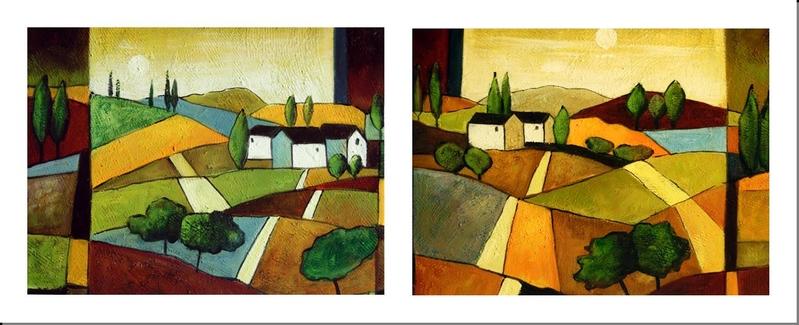 Cuadros abstractos cuadros modernos dipticos casa de - Cuadros para casa ...