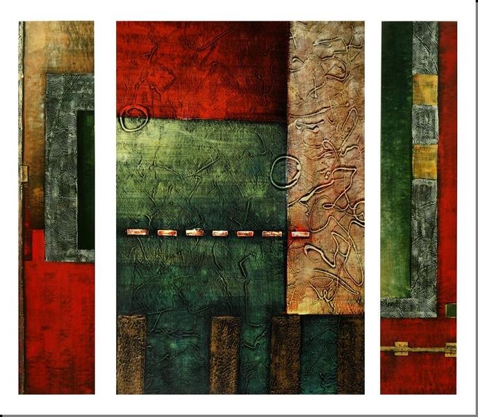 Cuadros Abstractos Cuadros Modernos Tripticos 150x120 Distincion