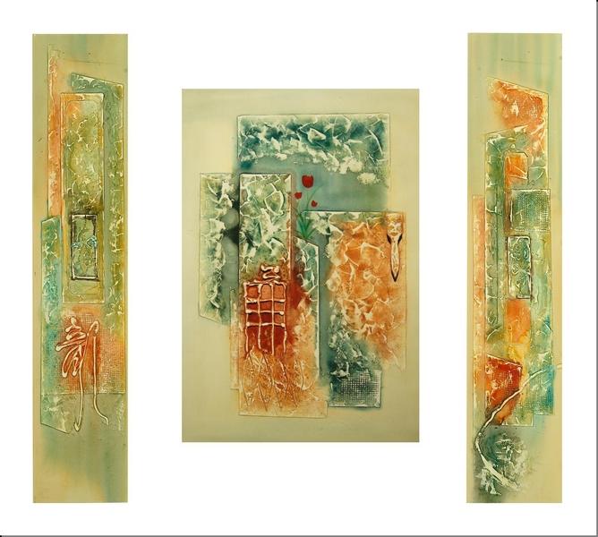 Cuadros abstractos cuadros modernos tripticos capricho for Cuadro en lienzo modernos