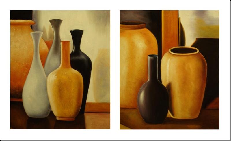Cuadros al oleo modernos dipticos imagui for Imagenes cuadros abstractos modernos
