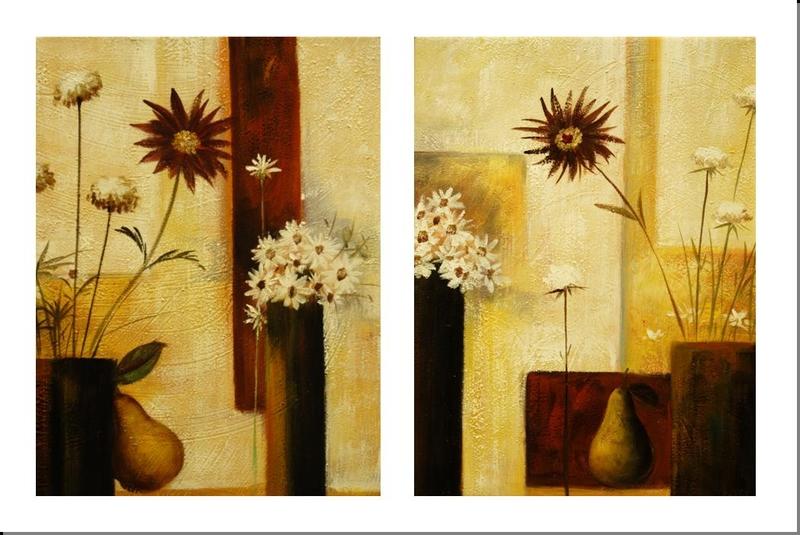 Cuadros abstractos cuadros modernos dipticos jarrones - Como pintar un cuadro moderno ...