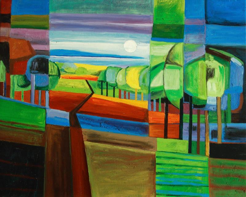 Cuadros abstractos cuadros modernos con paisajes - Lo ultimo en cuadros modernos ...