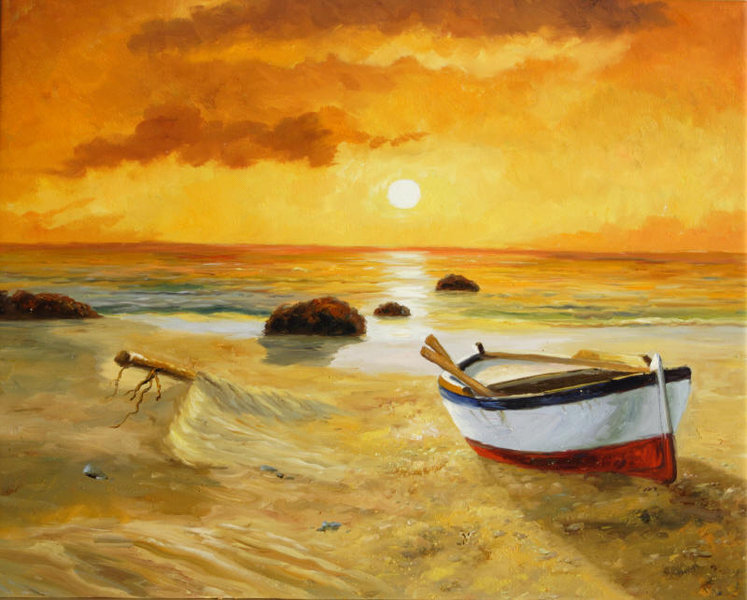 Cuadros modernos cuadros marinas modernas chalupa al for Cuadros de marinas