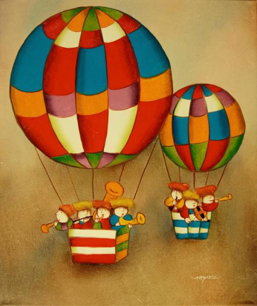 Cuadros modernos cuadros infantiles ii un globo dos for Cuadros infantiles al oleo