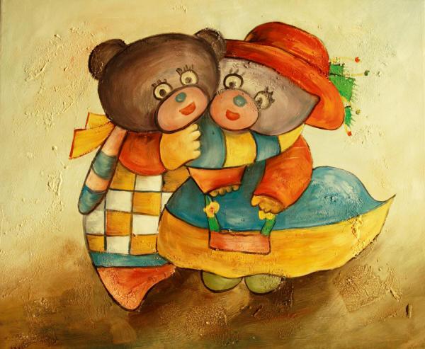 Cuadros modernos cuadros infantiles osos mimosos for Cuadros infantiles al oleo