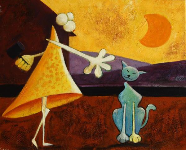 Cuadros gatos abstractos imagui - Cuadros figurativos modernos ...